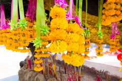 Marigold Garland Flower Stock Photo