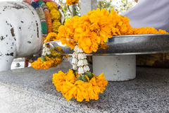 Marigold Garland Flower Stock Image