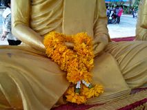 Marigold garland Royalty Free Stock Image