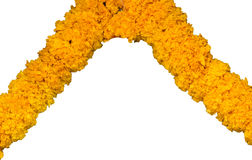 Marigold garland Stock Image