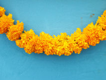 Marigold garlands Royalty Free Stock Photo