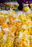 Marigold packing Stock Image