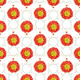 Marigold. Seamless pattern with flowers. Hand-drawn background. Vector illustration. Royalty Free Stock Images