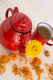 Marigold tea Royalty Free Stock Image