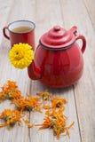Marigold tea Royalty Free Stock Photo