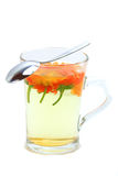 Marigold tea isolated Stock Image