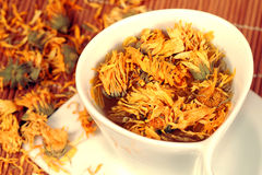 Marigold tea Royalty Free Stock Images