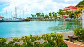 Marigot市,圣马丁海岛 图库摄影