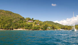 Marigot bay - Saint Lucia tropical island Royalty Free Stock Photo