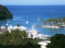 Marigot Bay on St. Lucia in the Caribbean Royalty Free Stock Photo