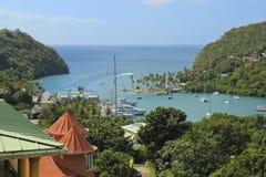Marigot Bay in St Lucia, Carribean Stock Photos
