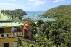 Marigot Bay in St Lucia, Carribean Royalty Free Stock Image