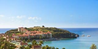 Marigot bay, st martin. View of part of marigot bay, st martin in the caribbean Stock Photo