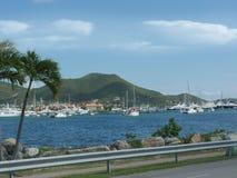 Marigot Bay, St Martin. Yachts dot the Marigot Bay in St. Martin, Caribbean Stock Photography