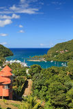 Marigot Bay View. A view across Marigot Bay in St Lucia.  Marigot Bay is located on the west coast of the Caribbean island of St Lucia Royalty Free Stock Photography