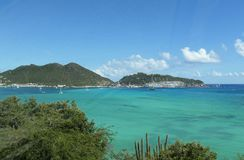 Marigot coastal view, Saint Martin Royalty Free Stock Photography