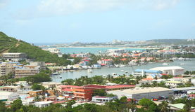 Marigot, Sint Maarten, Caribbean. Town of Marigot , the capital of French part of Island ,Saint  martin/ Sint maarten Stock Photo