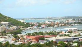 Marigot, Sint Maarten, das caraíbas foto de stock