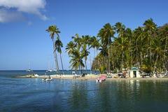 Marigot zatoka, St Lucia, Karaiby obraz royalty free