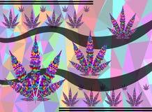 Marihuana achtergrondtextuur Royalty-vrije Stock Afbeelding