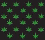 Marihuana achtergrondvector Royalty-vrije Stock Afbeelding