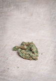 Marihuana auf Leinwand Stockbilder