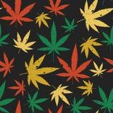 Marihuana bezszwowy retro wzór ilustracja wektor