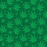 Marihuana bezszwowy wzór Marihuana jest niekończący się teksturą Medyczny konopiany wielostrzałowy tło również zwrócić corel ilus Zdjęcie Royalty Free