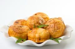Marihuana cupcake muffins op een plaat Royalty-vrije Stock Afbeelding