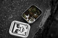 Marihuana in een doos Royalty-vrije Stock Foto