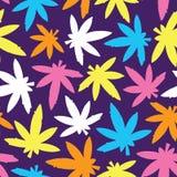 Marihuana ganja weed seamless vector pattern Royalty Free Stock Photography