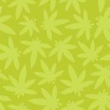 Marihuana ganja weed seamless vector pattern green Stock Images