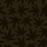 Marihuana ganja weed seamless vector pattern Stock Images