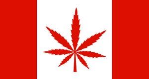 Marihuana, Hanf und Drogen in Kanada lizenzfreie abbildung