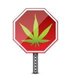 Marihuana, het gebruiksteken van de eindecannabis Stock Fotografie
