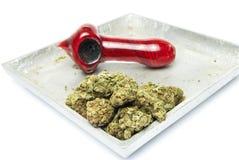 Marihuana i drymba Fotografia Royalty Free