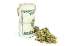 Marihuana i pieniądze Zdjęcia Stock