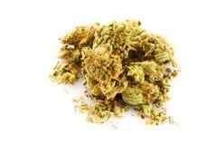 Marihuana  isolated on white background drugs addiction Royalty Free Stock Image