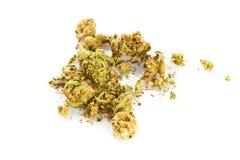 Marihuana  isolated on white background drugs Royalty Free Stock Photos