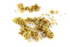 Marihuana  isolated on white background drugs Royalty Free Stock Images