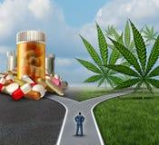 Marihuana-medizinische Wahl stock abbildung