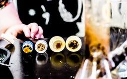 Marihuana oleju ekstrakta THC pączka marihuany Puszkują Reefer cbd bho Obrazy Stock
