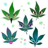 Marihuana potwory royalty ilustracja