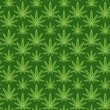 Marihuana vector naadloze patronen als achtergrond Stock Fotografie