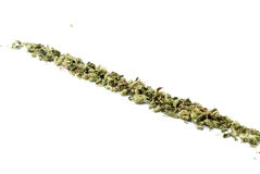 Marihuana, weißer Hintergrund Stockfotos