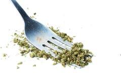 Marihuana, weißer Hintergrund Stockfoto