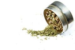Marihuana, weißer Hintergrund Lizenzfreie Stockfotos