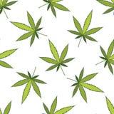 Marihuana wektoru wzór ilustracja wektor