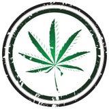 marihuana znaczek Zdjęcia Royalty Free