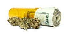 Marihuana, zyski ze sprzedaży narkotyków Obrazy Royalty Free
